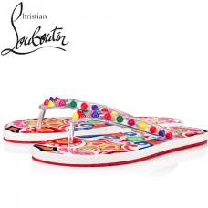 Christian Louboutin Loubi Flip Donna flip-flop with Patent - MULTI