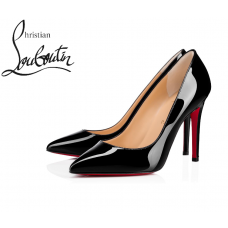 Christian Louboutin Pigalle 100 mm Pumps in Patent Leather - BLACK