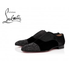 Christian Louboutin Alpha Male Flat Derby with Creative Leather - BLACK