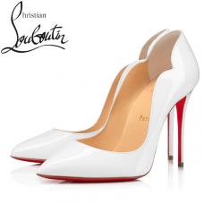 Christian Louboutin Hot Chick 100-mm Patent Calfskin - WHITE