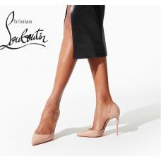 Christian Louboutin Iriza 100-mm Heel with Nappa Leather - NUDE