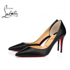 Christian Louboutin Iriza 85-mm Heel with Shiny Nappa Leather - BLACK