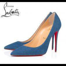 Christian Louboutin KATE 100-mm stiletto heel PUMPS-BLUE VEAU VELOURS