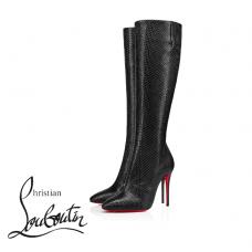 Christian Louboutin Eloise Botta 100-mm Tall Boots in Calfskin - BLACK