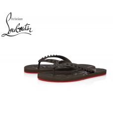 Christian Louboutin Loubi Flip Flat in PVC - GREY
