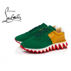 Christian Louboutin Loubishark Flat Runners with Suede - MULTICOLOR