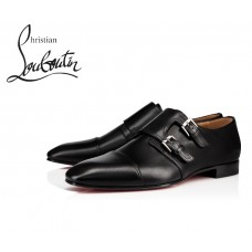 Christian Louboutin Mortimer Flat Loafer with Calf - BLACK