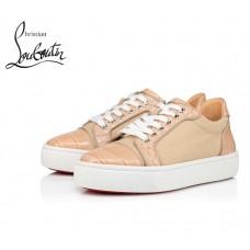 Christian Louboutin Vieirissima Orlato Flat Sneakers with Cotton - BEIGE