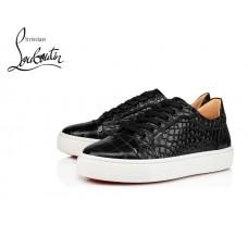 Christian Louboutin Vieirissima Sneakers with Calfskin - BLACK