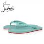 Christian Louboutin Loubi Flip-flop Donna Flat in Rubber - NOUMEA