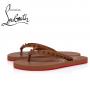Christian Louboutin Loubi Flip-flop Woman Flat in Calf - NUDE 5